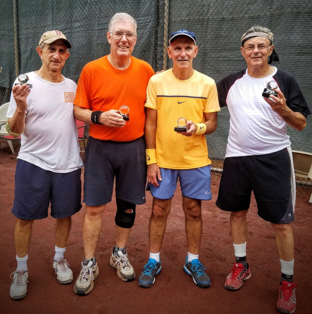 Congratulations to Len Travers and John Schatzel for winning the STC Doubles Tournament in the B Division. Len and John prevailed over last year's winners, Ken Potter and Ben Cooley, in a hard fought Finals match. After going down in the first set 0-3, Len stepped up his attack at net and turned the match around - leading Len and John to a 1st set comeback, 7-5, before finishing off the 2nd set, 6-2.